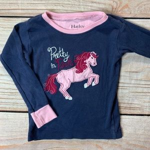 Hatley pretty in pink long sleeve tee with horse